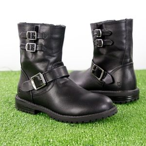 Frye Veronica Buckle Black Boot kids Sz. 1 Zipper